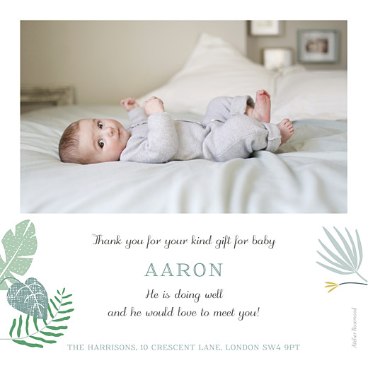 Baby Thank You Cards Tropical forest photo (large) green - Page 2