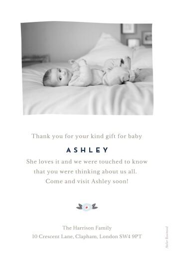 婴儿感谢卡花色带(纵向)的粉红色 - 第2页