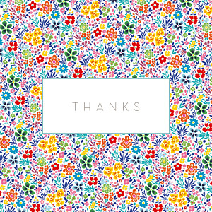 Flower garden photo (4 pages) yellow & red tomoë  baby thank you cards