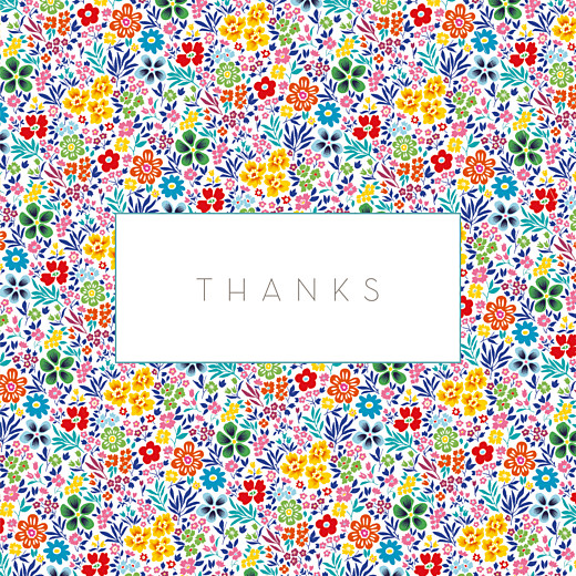 Baby Thank You Cards Flower garden photo (4 pages) yellow & red