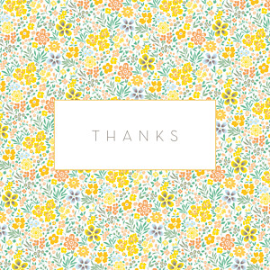 Flower garden photo (4 pages) yellow yellow baby thank you cards