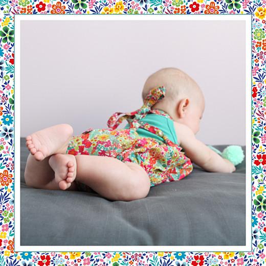 婴儿感谢卡花圃照片(4页)黄色和红色 - 第2页