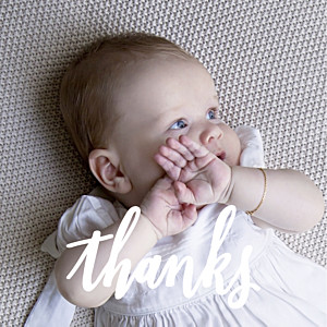 Faith (large) green baby thank you cards
