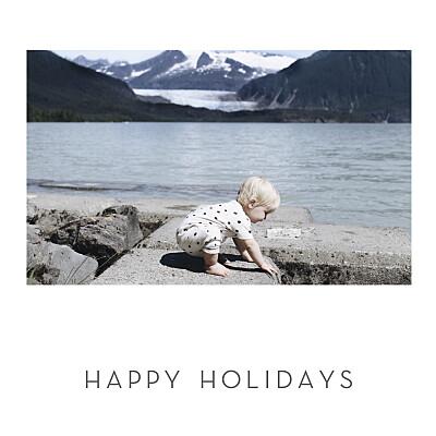 Christmas Cards Little elegant heart (foil) white finition