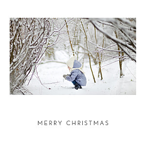 Elegant heart 4 pages (foil) white luxury christmas cards