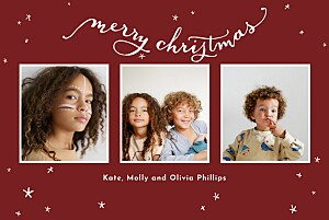 Lovely stars (4 pages) multi photo christmas cards
