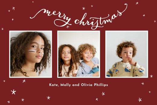 Christmas Cards Lovely stars (4 pages)