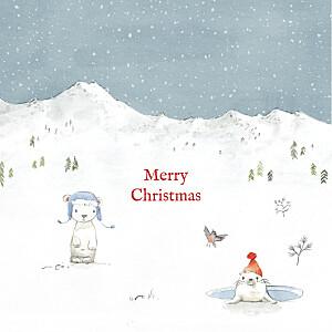 Lapland photo white christmas cards