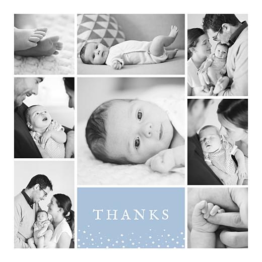Baby Thank You Cards Souvenir 8 photos blue