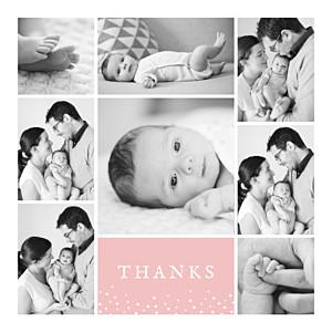 Souvenir 8 photos pink pink baby thank you cards