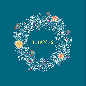 Baby's breath blue blue baby thank you cards