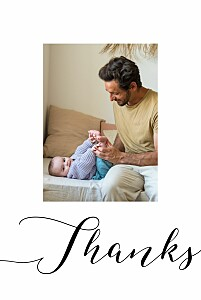 A big thank you white le collectif  baby thank you cards