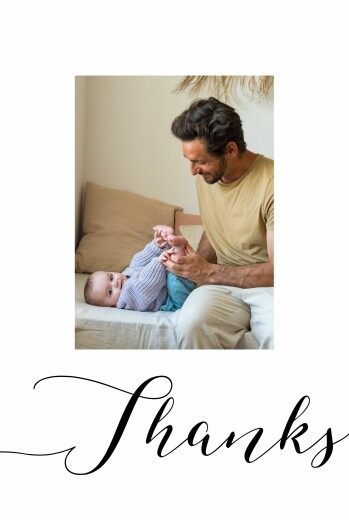 Baby Thank You Cards A big thank you white