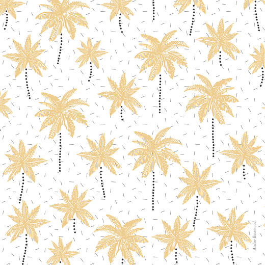 Baby Thank You Cards Palm trees yellow