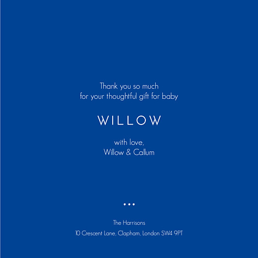 Baby Thank You Cards Family is forever blue - Page 3