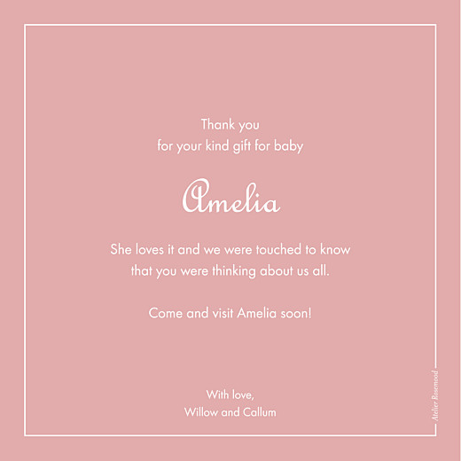 Baby Thank You Cards Classic border - Page 2