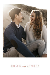 Whisper std red save the date cards