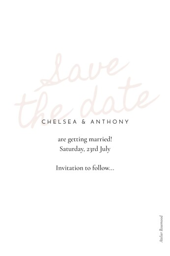 Save The Date Cards Whisper std red - Page 2