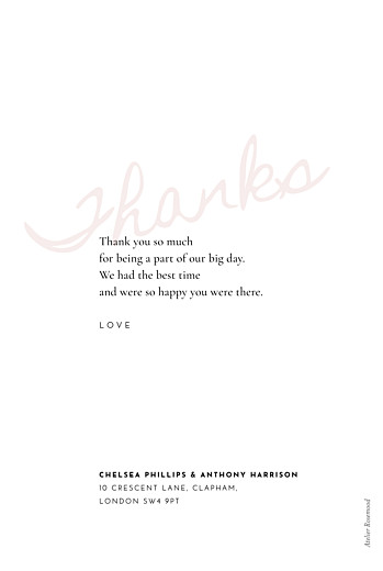 Wedding Thank You Cards Whisper red - Page 2