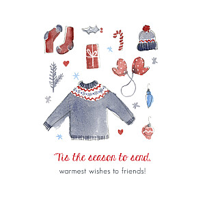Warmest wishes (4 pages) petite alma  christmas cards