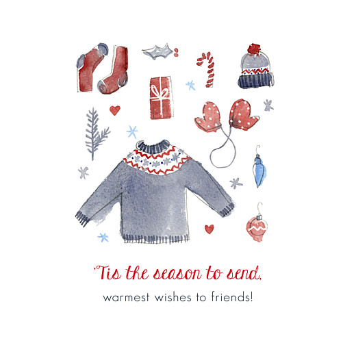 Christmas Cards Warmest wishes (4 pages)