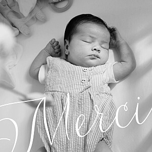 Big thanks photo (large) white baby thank you cards