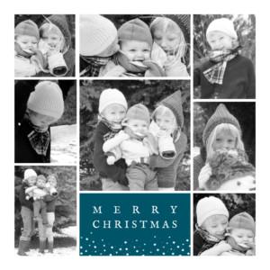 Christmas Cards Souvenir 8 photos (4 pages) blue