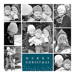 Souvenir 8 photos (4 pages) blue le collectif  christmas cards