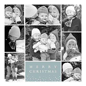 Souvenir 8 photos (4 pages) green blue christmas cards