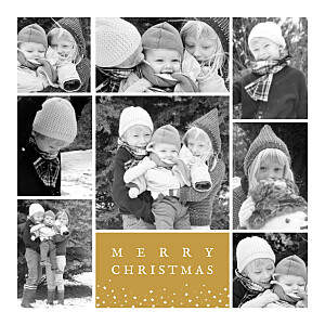 Souvenir 8 photos (4 pages) yellow yellow christmas cards