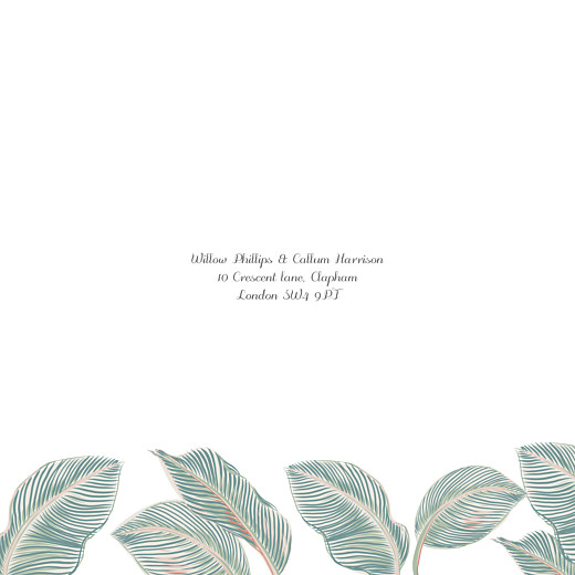 Wedding Invitations Calathea (4 pages) blue