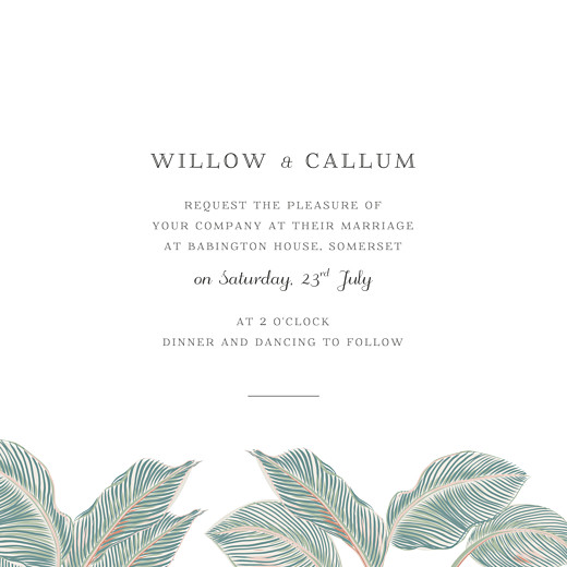 Wedding Invitations Calathea (4 pages) blue - Page 3