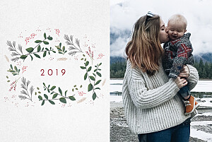 Winter wreath petite alma  christmas cards