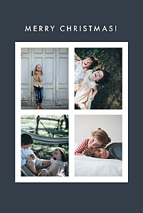 Magic moments 4 photos (foil) ink new year christmas cards