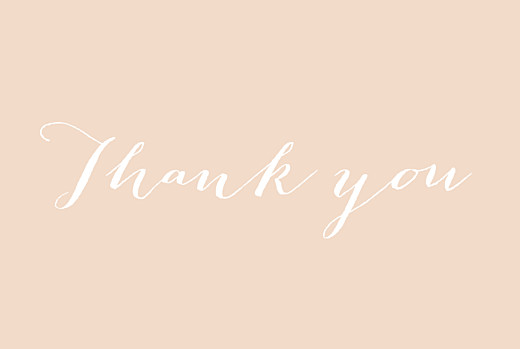 Wedding Thank You Cards A big thank you tyc pink