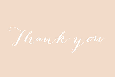 Wedding Thank You Cards A big thank you tyc pink finition