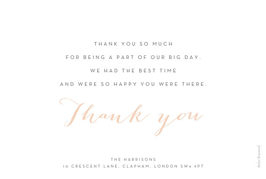Wedding Thank You Cards A big thank you tyc pink - Page 2