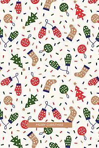 Christmas pattern portrait beige bikini sous la pluie  christmas cards