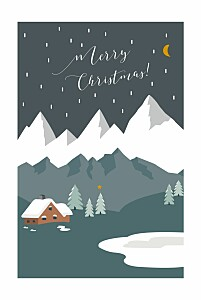 Charming chalet hc dark green green christmas cards
