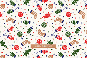 Christmas pattern beige christmas cards