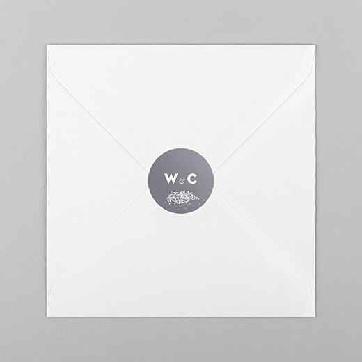 Wedding Envelope Stickers Baby's breath grey - View 1