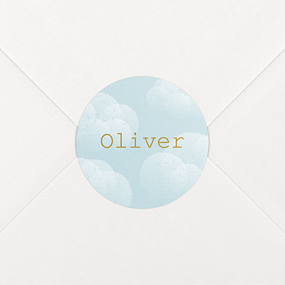 Mist blue baby stickers