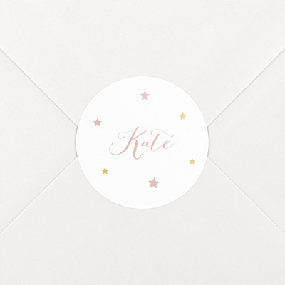 Lovely family pink baby stickers