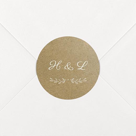 Wedding Envelope Stickers Poem kraft - View 2