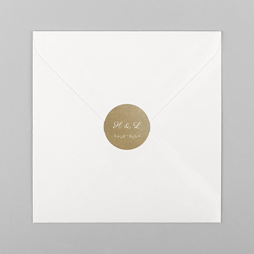 Wedding Envelope Stickers Poem kraft - View 1