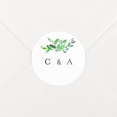 Canopy green wedding stickers