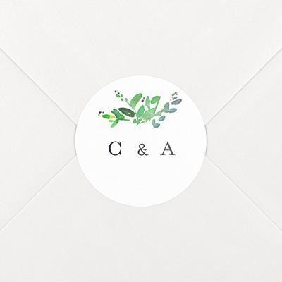 Canopy green wedding stickers