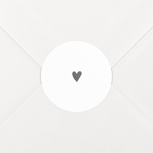 Baby Stickers Lovely heart grey - View 2