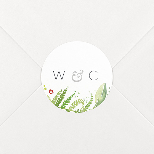 Wedding Stickers Forest whisper green - View 2