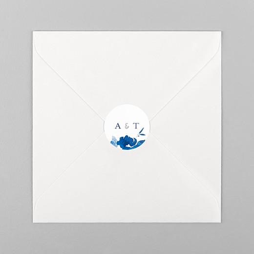 Wedding Stickers English garden blue - View 1